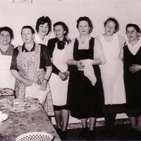 Küchenteam um 1950