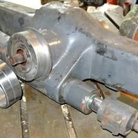 Reparatur einer Steyr Vorderachse