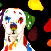 Acryl Hund
