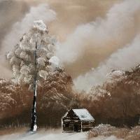 Öl-Gemälde Winterlandschaft