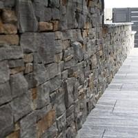 Keramische Platten mit Granitplatten kombiniert, lose verlegt (5)