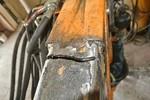 Böschungsmäher vor der Reparatur