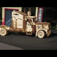 Ugears Heavy Boy Truck and Trailer VM-03 Models. Premier on Kickstarter