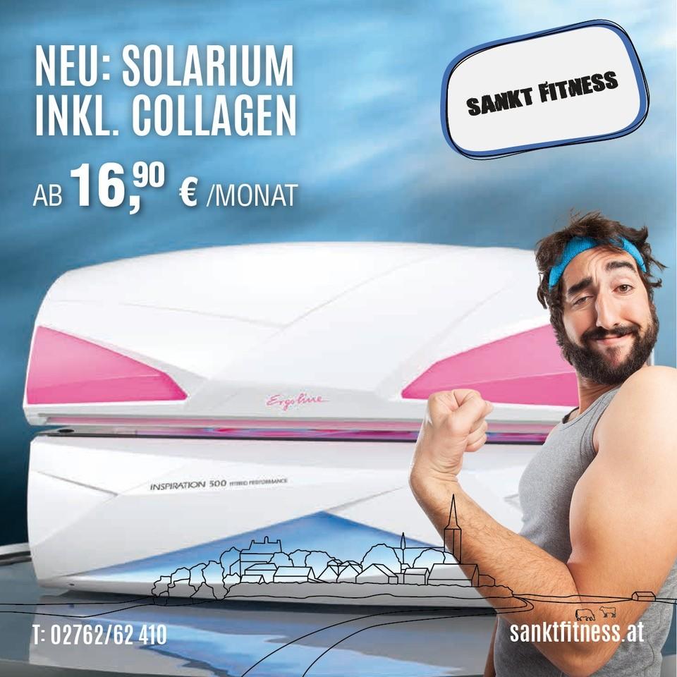 Neu: Solarium inkl. Collagen, ab 16,90€/Monat