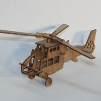 Hubschrauber aus Sperrholz