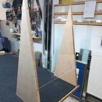 Thekenaufsatz mit Holz