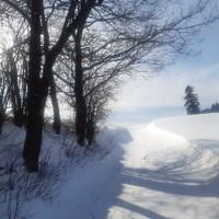 Winteridylle vor der Haustür