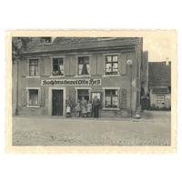 Das Druckereigebäude in den Anfangsjahren