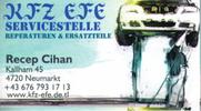 KFZ EFE Servicestelle - Reparaturen - Ersatzteile - Reifen