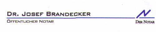 Dr. Josef Brandecker Öffentlicher Notar