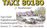 Taxi Tag und Nacht Krankentrasport Johann Neuhauser