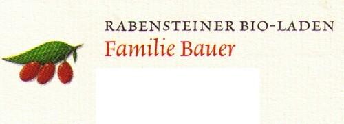Rabensteiner Bio-Laden Familie Bauer
