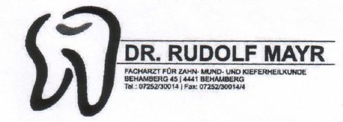 Dr. Rudolf Mayr- Zahnarzt