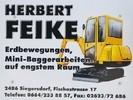 Herbert Feike - Erdbewegungen, Minibaggerarbeiten