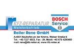 Kfz Reiter Rene GmbH, Kfz-Reparatur, Bosch Car Service Meisterbetrieb