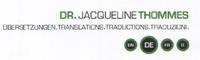 Dr. Jacqueline Thommes Übersetzungen