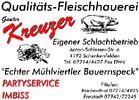 Betrieb Schenkenfelden (Fleischerei KREUZER, Qualitäts-Fleischhauerei, eigener Schlachtbetrieb, echter Mühlviertler Bauernspeck.)