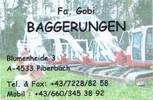 Reinhard Gobi Baggerungen - Michael Gobi Erdbau