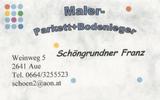 Maler - Parkett&Bodenleger Franz Schöngrundner