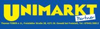 UNIMARKT Partner, Thomas Tober, Lebensmittel, Nahversorger und Partyservice in St. Oswald bei Freistadt.