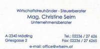 Mag. Christine Seim - Wirtschaftstreuhänder - Steuerberater