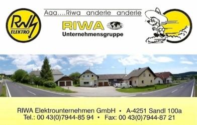 RIWA, Elektrounternehmen, Elektroinstallateur in Sandl bei Freistadt und Einkaufen in Neumarkt im Mühlkreis.