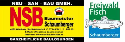 NSB Neu-San-Bau GmbH, Baumeister Schaumberger, Ganzheitliche Baulösungen und Freiwald Fisch Schaumberger in Windhaag bei Freistadt.