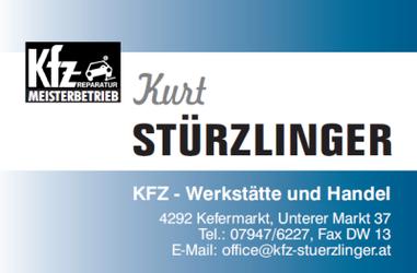 KFZ Stürzlinger, KFZ-Werkstätte und Handel in Kefermarkt bei Freistadt.