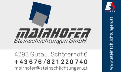 Christian MAIRHOFER Steinschlichtungen und Natursteinmauern in Gutau bei Freistadt.