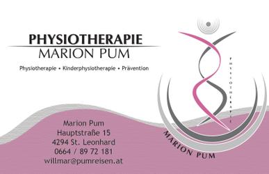 PHYSIOTHERAPIE Marion Pum, Physiotherapie, Kinderphysiotherapie, Prävention in St. Leonhard bei Freistadt.