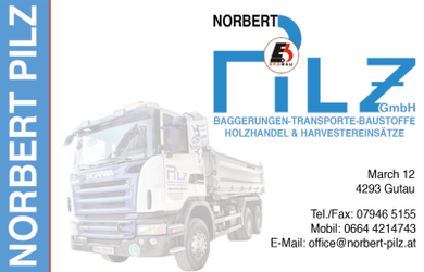 Baggerungen, Erdbau, Transporte - Freistadt, Perg, Urfahr NORBERT PILZ