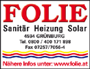 Folie Gas - Wasser - Heizung