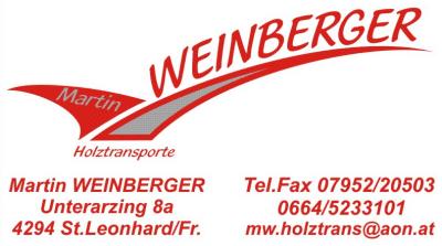 Holztransporte WEINBERGER Martin und Holzhandel AMW: Anita Weinberger in St. Leonhard bei Freistadt.