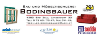 Tischlerei BODINGBAUER, Bau- und Möbeltischlerei, Möbelhandel, Fenster und Türen in Bad Zell im Bezirk Freistadt.