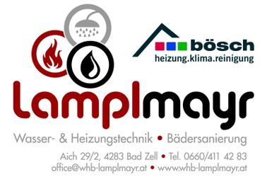 Installateur LAMPLMAYR Gerhard, Wasser- & Heizungstechnik, Bädersanierung in Bad Zell im Bezirk Freistadt.