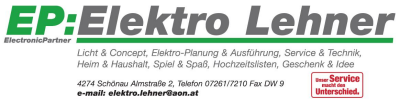 EP:Elektro LEHNER, Elektro-Fachhandel, Elektro-Installation, Photovoltaik, Haushaltsartikel, Spielwaren in Schönau im Bezirk Freistadt.