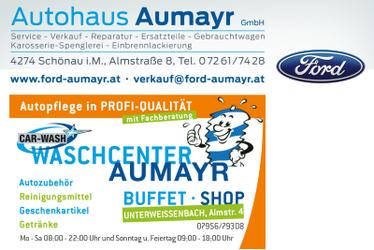 Autohaus AUMAYR, Ford-Bezirkshändler in Schönau und Waschcenter Unterweißenbach im Bezirk Freistadt.
