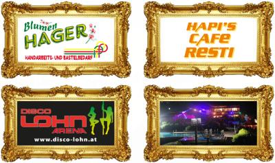 HERWIG HAGER, Blumen, Geschenke und mehr, Disco Lohn, HAPI´S Cafe Resti, Buffet Freibad, in Unterweißenbach, Königswiesen und Weitersfelden im Bezirk Freistadt.