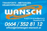 WANSCH OG, Mietwagen, Transporte, Krankentransporte, Personenbeförderung, Schülerfahrten, Rollstuhlbus, Flughafentransfer, Transfer Johannesweg, Autovermietung in Unterweißenbach im Bezirk Freistadt.