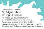 Dr. Edgar und Ingrid LEHNER, Fachtierarzt für Kleintiere