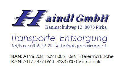 Haindl gmbh transporte entsorgung in pirka schottertransporte handwerk gewerbe - Mobel entsorgung gratis ...