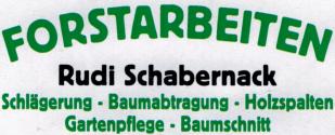 Forstarbeiten Rudi Schabernack