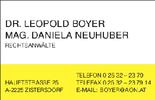 Dr. Leopold Boyer - Rechtsanwalt