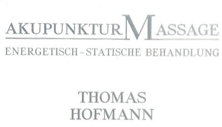 Hofmann Thomas Gewerblicher Masseur