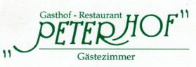 Gasthof-Restaurant PETERHOF