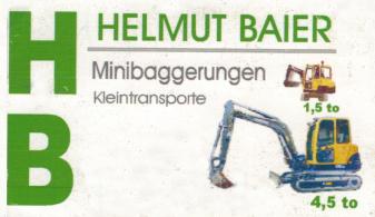 HB Helmut Baier Minibaggerungen Kleintransporte