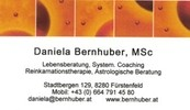Daniela Bernhuber, MSc Lebensberatung, System. Coaching, Reinkarnationstherapie, Astrologische Beratung