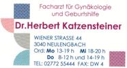 Dr. Herbert Katzensteiner - Facharzt für Gynäkologie und Geburtshilfe
