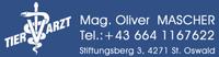 Tierarzt Mag. Oliver MASCHER Kleintier-, Pferde- und Nutztierpraxis in St. Oswald bei Freistadt.