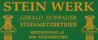 Stein Werk | Gerald Hofbauer | Steinmetzbetrieb
